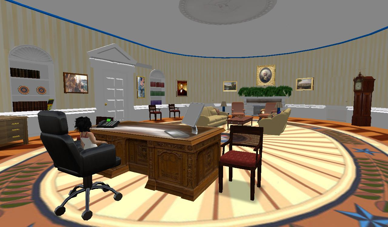 visit the virtual oval office in secondlife at visit sialimonus 203
