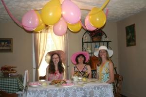 Jenn's Visit 2013 Tea party 068
