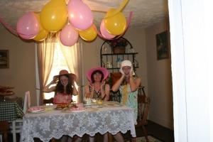 Jenn's Visit 2013 Tea party 069