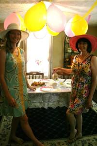 Jenn's Visit 2013 Tea party 073