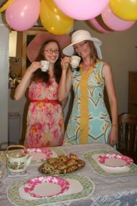 Jenn's Visit 2013 Tea party 075